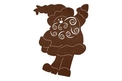 Wavy Bearded Santa DXF File