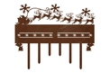 Sleigh Mantle Scene With Hooks