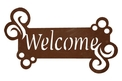 Swirly Welcome Sign