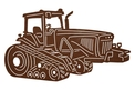 Side View - Crawler Tractor DXF File