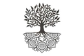 Tree Of Life with Roots DXF File
