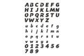 Wide Font Stock Art