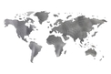 Separate Pieces World Map DXF File