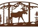 Moose Fire Screen