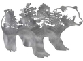 Bear with Forest DXF File