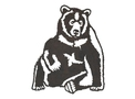 Sitting Grizzly_Bear DXF File