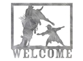 Bull Welcome Sign
