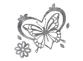 Butterfly Heart Top View DXF File