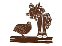 Standing Chicken DXF File