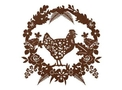 Chicken Wreath Wall Art