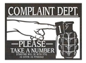 Complaint Dept. Wall Art