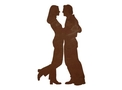 Couple Embracing DXF File