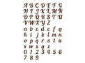 Cursive Font DXF File