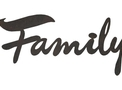 Cursive Family Wall Art DXF File