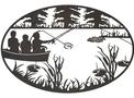 Boat Fishing Oval