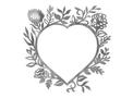 Floral Heart Wall Art