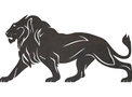 Male Lion DXF File