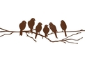 Six Perching Lovebirds DXF File