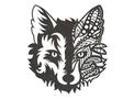 Mandala Fox Face DXF File