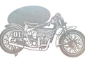 Vintage Motorbike DXF File