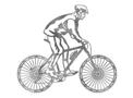 Mountain Biker Stock Art