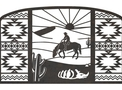 Navajo Desert Fireplace Screen