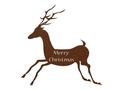 Merry Christmas Reindeer DXF File