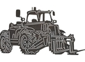 Tractor Forklift Side-view DXF File