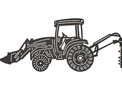 Loader Tractor w/Digger DXF File