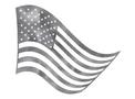 U.S. Flag Waving DXF File