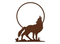Howling Wolf DXF File