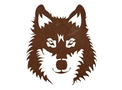 Gray Wolf Face DXF File