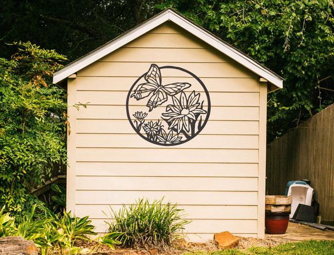 nature inspired yard art